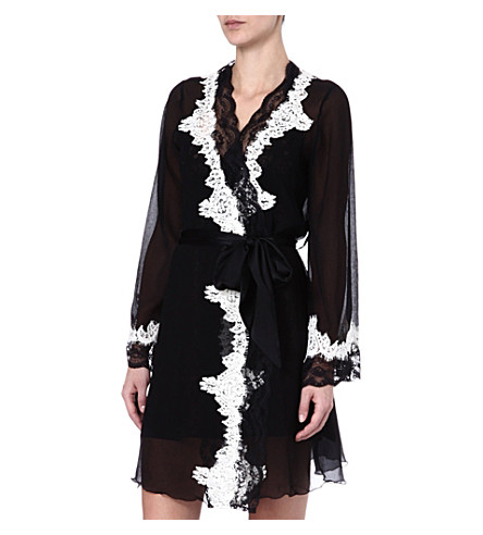 MYLA Lynda short robe (Black/ivory