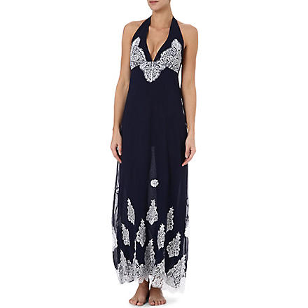 MYLA Violetta long gown (Navy/white