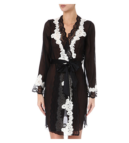 MYLA Violetta robe (Black/white
