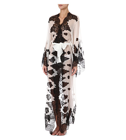 MYLA Violetta robe (White/black