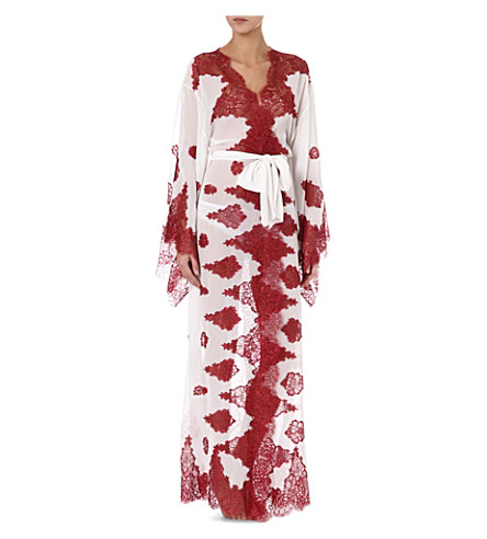 MYLA Violetta robe (White/bordeaux