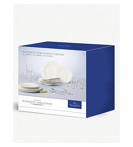 VILLEROY & BOCH Wonderful World 36-piece dinner set (White