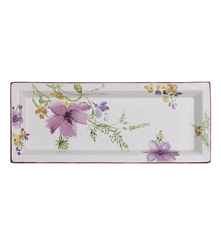VILLEROY & BOCH Mariefleur Gifts porcelain rectangular bowl 23.6cm