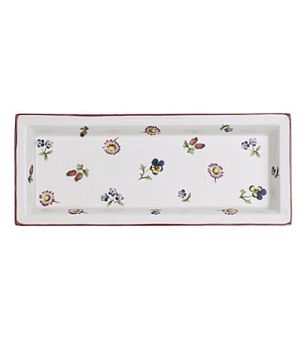 VILLEROY & BOCH Petite Fleur Gifts porcelain rectangular bowl 23.6cm
