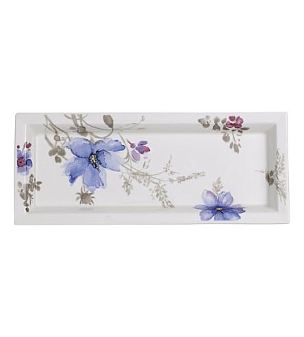VILLEROY & BOCH Mariefleur Gris porcelain rectangular bowl