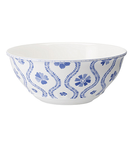 VILLEROY & BOCH Farmhouse Touch Blueflowers salad bowl 32cm