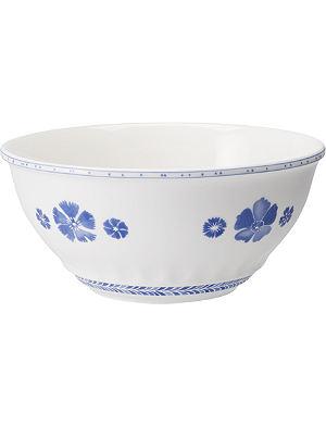 VILLEROY & BOCH Farmhouse Touch Blueflowers salad bowl 24cm