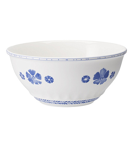 VILLEROY & BOCH Farmhouse Touch Blueflowers salad bowl 24cm
