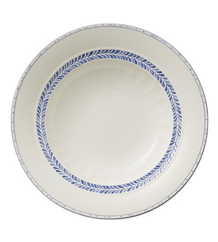 VILLEROY & BOCH Farmhouse Touch Blueflowers Relief deep plate 24cm