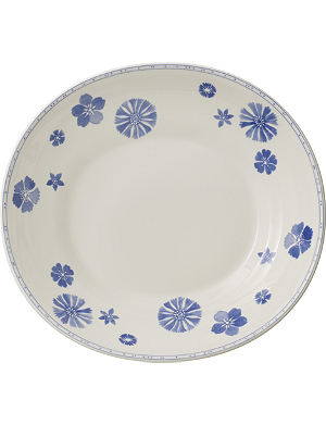 VILLEROY & BOCH Farmhouse Touch Blueflowers Relief pasta plate 29cm