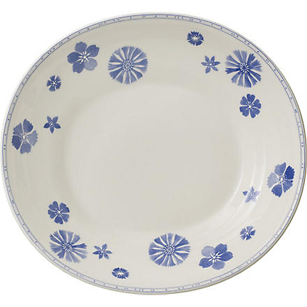 VILLEROY & BOCH Farmhouse Touch Blueflowers Relief pasta plate 29cm