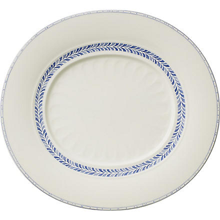 VILLEROY & BOCH Farmhouse Touch Blueflowers Relief gourmet plate 32cm