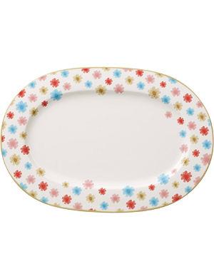 VILLEROY & BOCH Lina Floral oval platter 34cm