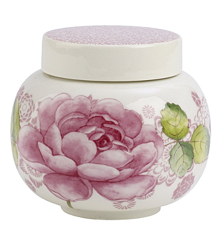 VILLEROY & BOCH Rose Cottage porcelain covered sugar bowl 360ml