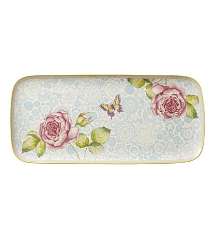 VILLEROY & BOCH Rose Cottage porcelain sandwich plate 35x16cm