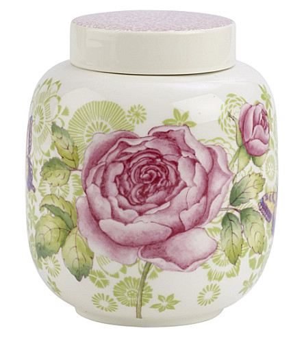 VILLEROY & BOCH Rose Cottage porcelain tea caddy with cover