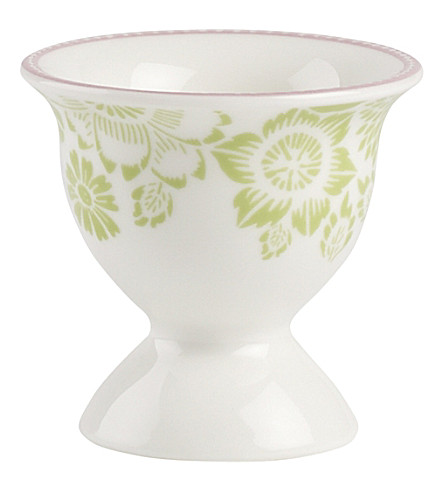 VILLEROY & BOCH Rose Cottage porcelain egg cup with egg spoon
