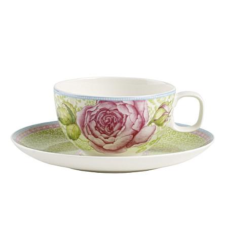 VILLEROY & BOCH 玫瑰小屋瓷茶杯和茶托