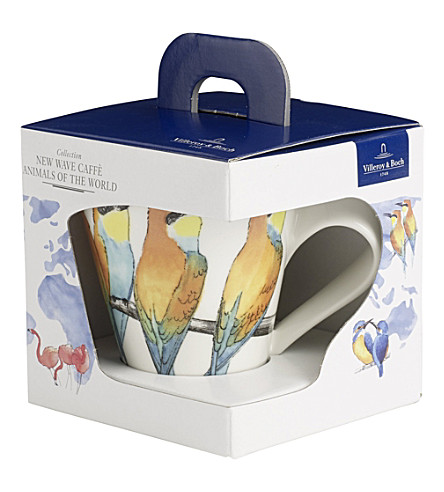 VILLEROY & BOCH New Wave Caffe Bee-eater coffee mug gift box