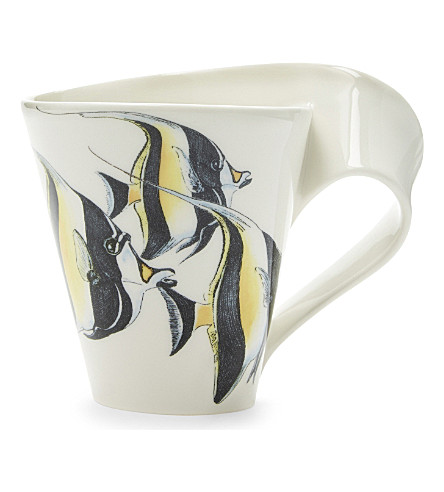 VILLEROY & BOCH Moorish idol fish porcelain mug