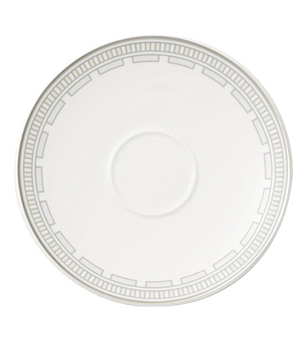 VILLEROY & BOCH La Classica Contura porcelain coffee saucer (White
