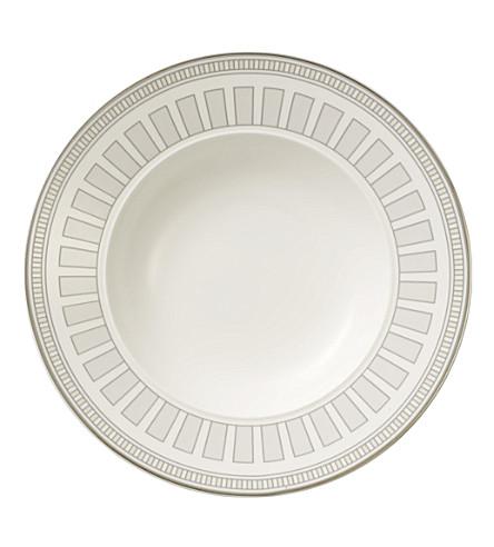 VILLEROY & BOCH La Classica Contura porcelain deep plate 24cm (White