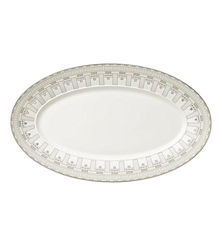 VILLEROY & BOCH La Classica Contura porcelain oval platter 43cm (White