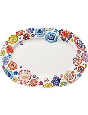 VILLEROY & BOCH Anmut Bloom oval platter 34cm