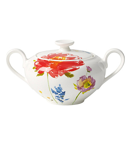 VILLEROY & BOCH Anmut flowers sugar pot