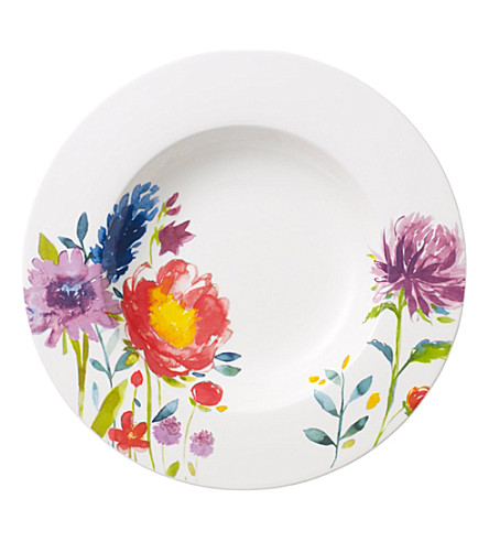 VILLEROY & BOCH Anmut Flowers deep plate 24cm