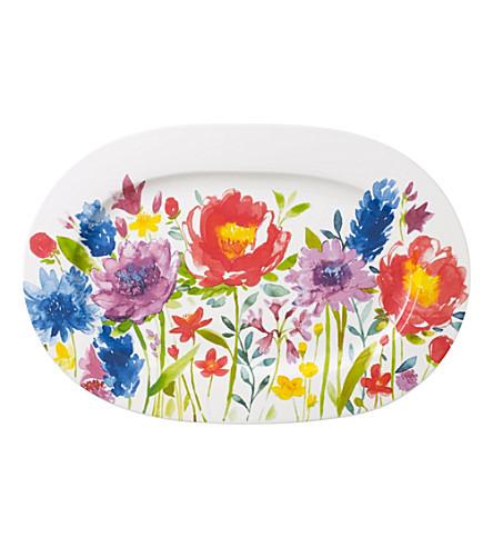 VILLEROY & BOCH Anmut Flowers oval platter 34cm
