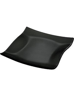 VILLEROY & BOCH Cera Black square plate 21cm