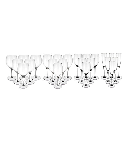VILLEROY & BOCH Maxima 24-piece crystal glass starter set