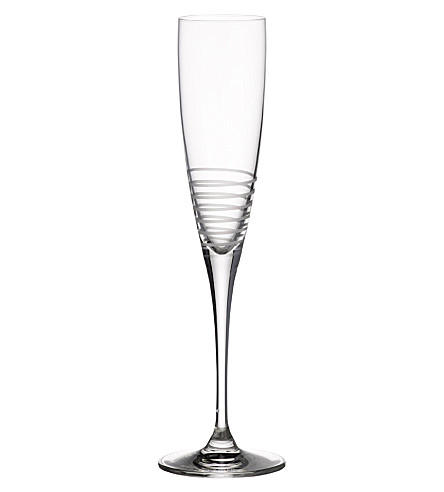 VILLEROY & BOCH Maxima decorated spiral champagne flute