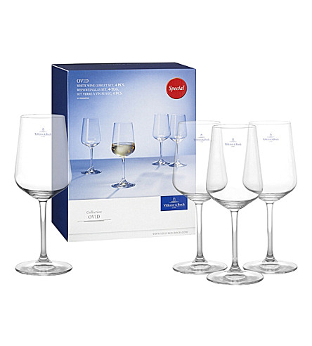VILLEROY & BOCH Ovid white wine goblet set
