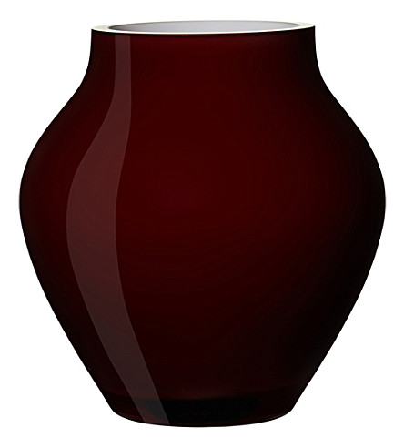 VILLEROY & BOCH Oronda mini glass vase (Red
