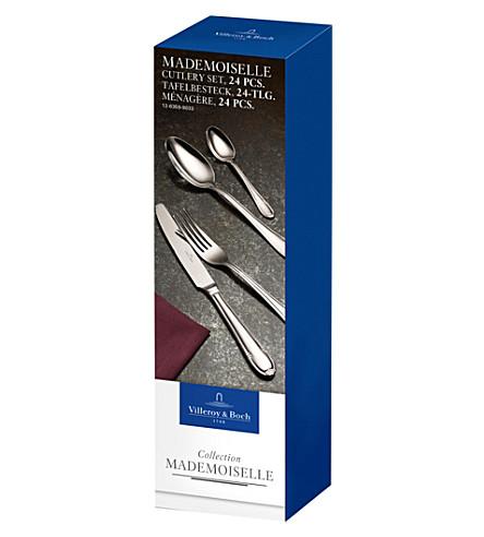 VILLEROY & BOCH Mademoiselle 24-piece stainless steel cutlery set (Silver