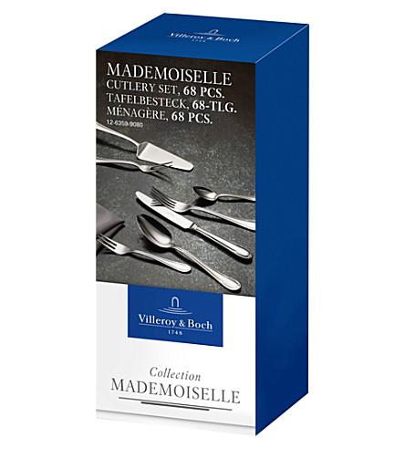 VILLEROY & BOCH Mademoiselle 68-piece stainless steel cutlery set (Silver