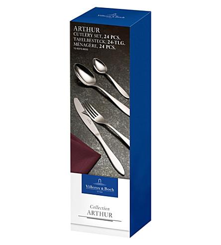 VILLEROY & BOCH Arthur 24-piece stainless steel cutlery set (Silver