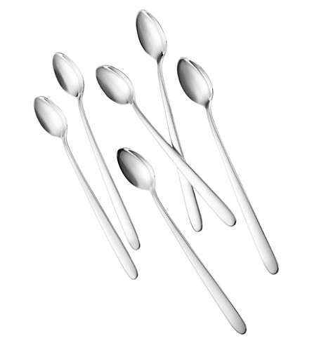 VILLEROY & BOCH Set of six Daily Line long drinking spoons 20cm