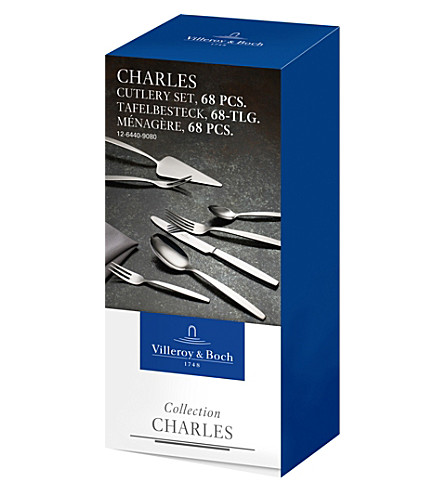 VILLEROY & BOCH Charles 68-piece stainless steel cutlery (Silver