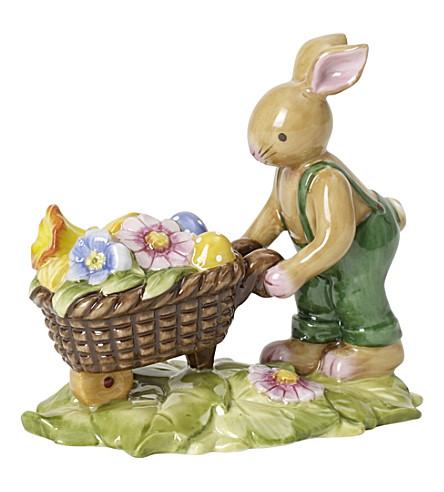 VILLEROY & BOCH Bunny family bunny with wheelbarrow