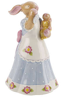 VILLEROY & BOCH Mummy bunny waving ornament