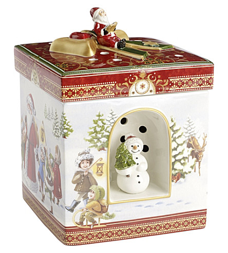 villeroy boch snow walk porcelain music box. Black Bedroom Furniture Sets. Home Design Ideas