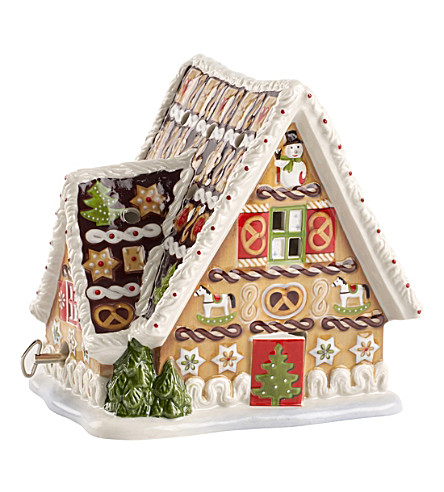 VILLEROY & BOCH Gingerbread House Christmas music box
