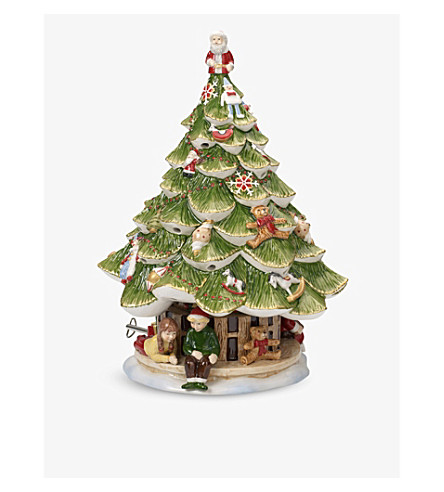 VILLEROY & BOCH Christmas Tree musical figurine 30cm