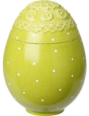 VILLEROY & BOCH Green egg-shaped box