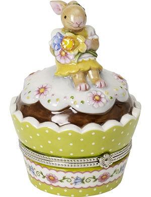VILLEROY & BOCH Spring decoration cupcake bunny trinket
