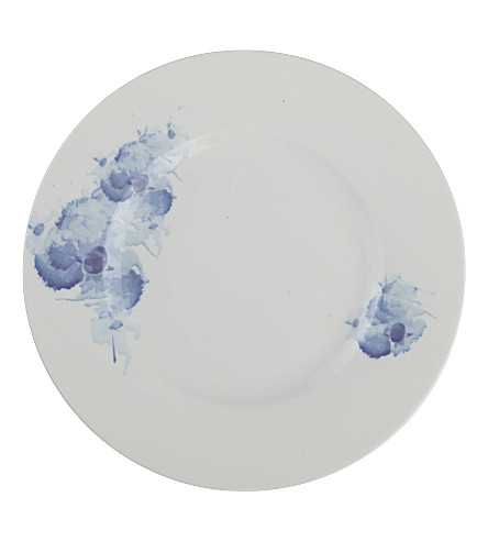 GALLO DESIGN Pansy Blue deep plate 24cm