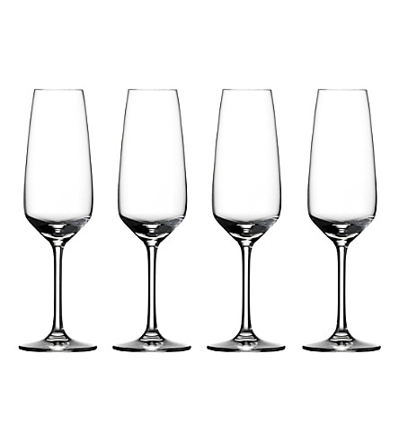 VIVO Voice Basic set of 4 crystal glass champagne flutes